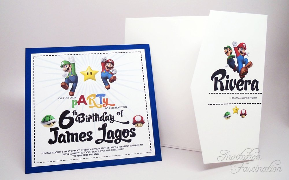 Sixth Birthday Invitation