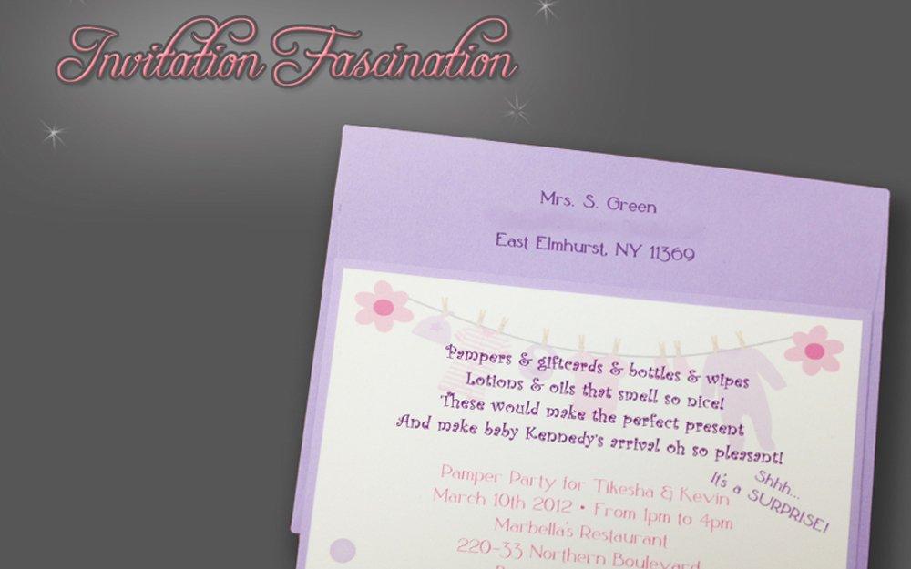 Pamper Party Invitation
