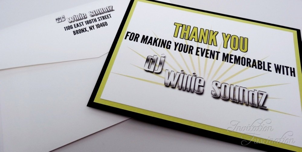 D.J. Thank You Cards