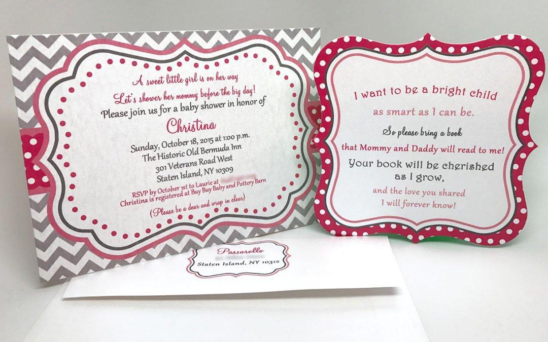 Sweet Little Girl Baby Shower Invitation